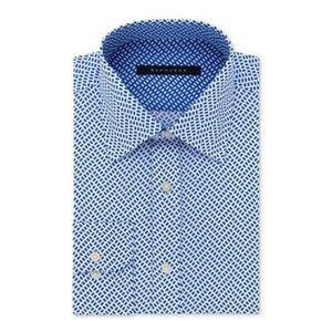 SEAN JOHN Sapphire Geometric Print Dress Shirt XXL